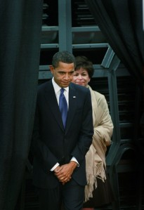 The Puppet-In-Chief with Puppet-Master Valerie Jarrett Barack obama