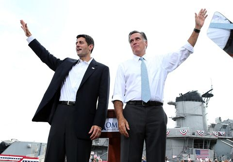 Mitt Romney and VP Running Mate, Paul Ryan (R-WI)