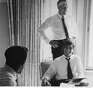 Mitt with his father, George Romney...