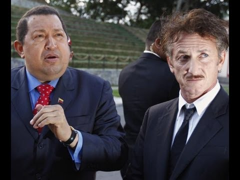 Hugo Chavez with Bosom Buddy, Sean Penn